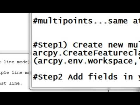 2) Creating Point Feature Classes Using Arcpy Scripting