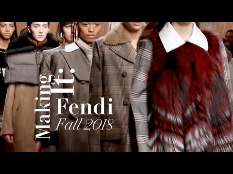 Karl Lagerfeld Explains the Inspiration Behind Fendi's Fall 2018 Show