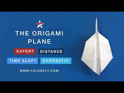 ✈ How to Fold an Origami Paper Airplane that Flies Great - Fold 'N Fly