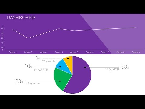 How to Create Flat Design Graphs For Reporting Dashboard in Microsoft PowerPoint Tutorial 2016