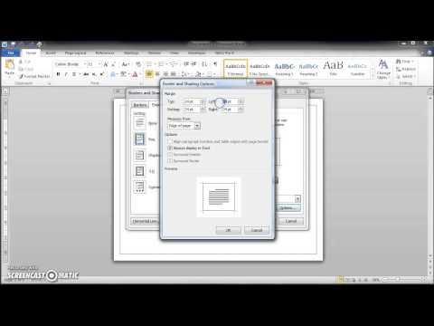 how to draw border page in MsWord