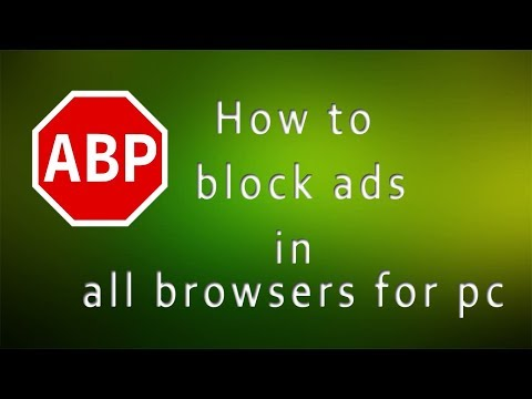 How to block ads in all browsers for pc