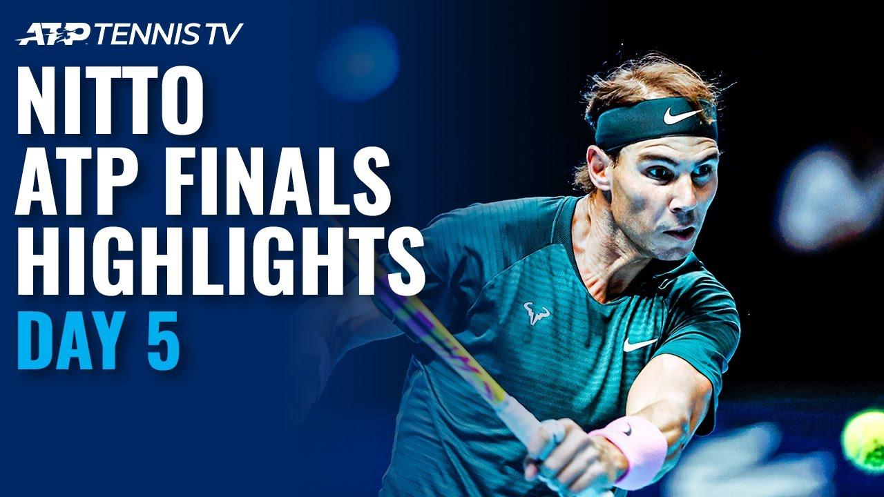 Nadal vs Tsitsipas; Thiem vs Rublev   Nitto ATP Finals 2020 Highlights Day 5