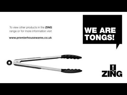 Zing silicone cooking tongs - Premier Housewares 0804923