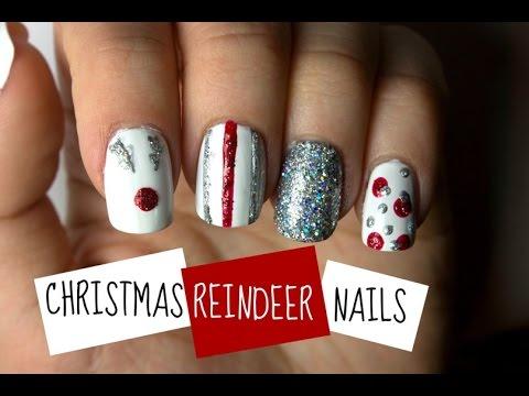 Last Minute Christmas Reindeer Nails   Viki Nailbeauty