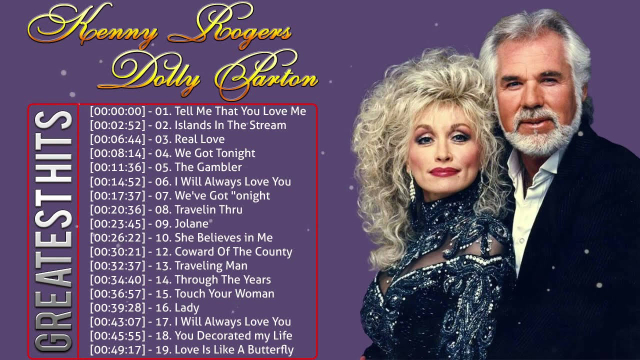 Kenny Rogers, Dolly Parton Greatest Hits Full Album 🎵🎶 Best Country Love Songs Ever