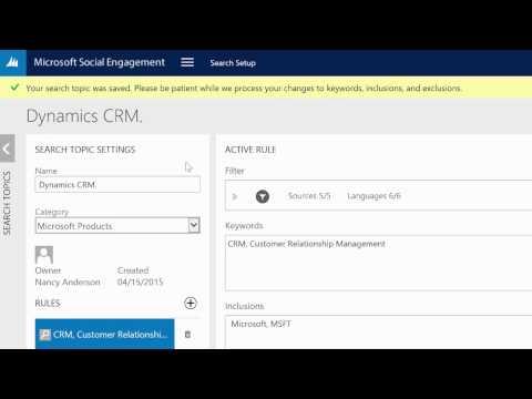 Microsoft Social Engagement Search Setup