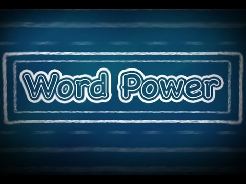 Word Power:  A (Part 1), English Lessons for Beginners