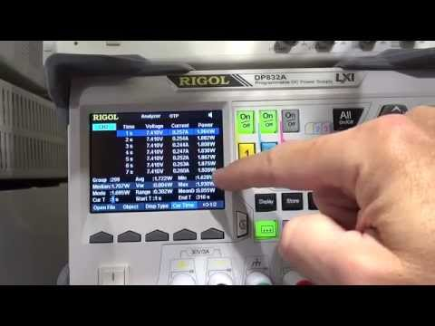 T4D #107 - Rigol DP832A PSU - Analyzer and Recorder Features