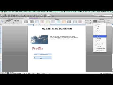 Mac Office: How to Use Microsoft Word // Basic Tutorial {2015}