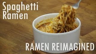 Spaghetti Ramen In The Microwave