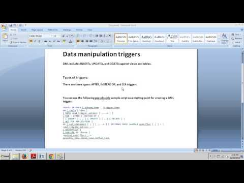 SQL Server tutorial 66: Data Manipulation Triggers