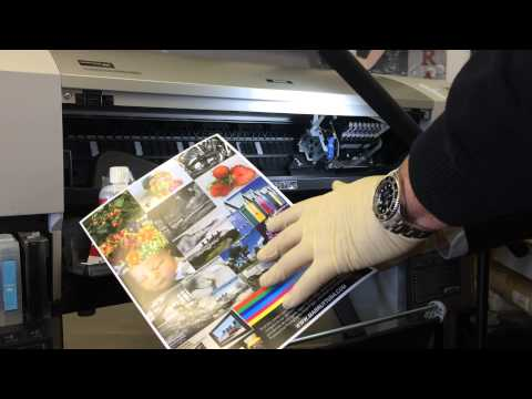 How to fault-find a wide-format inkjet printer - air entering ink system etc Pt 2 of 3