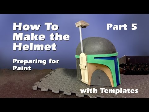 How to make a Boba Fett Helmet (Step by step guide) Part 5