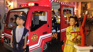Fire Rescue & Police Training At Kidzania Kids Pretend Play With Ckn Toys