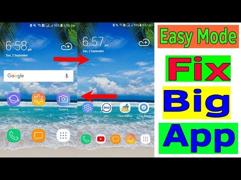 Easy Mode : How To Fix Big Or Large App icons On Samsung Galaxy J7/S7/S8/S9/N8/N9