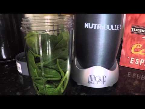 NutriBullet. A beetroot, ginger and spinach Nutriblast.