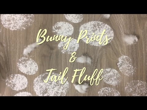 DIY Easter Bunny Footprints and Tail Fluff!