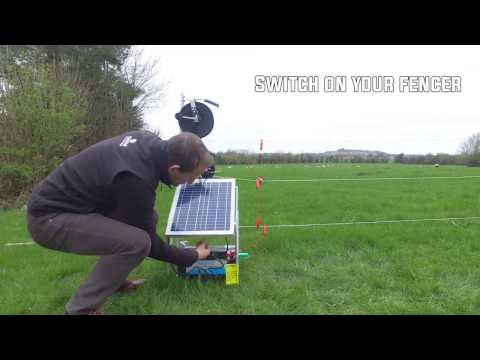 Setting up a solar electric fence for cattle and sheep