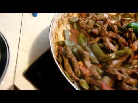 How To Make Nopales With Round Steak Part2