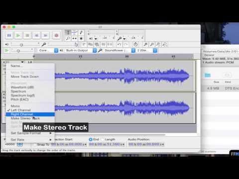 Split DTS audio to Individual Tracks Free on Mac(1/2)