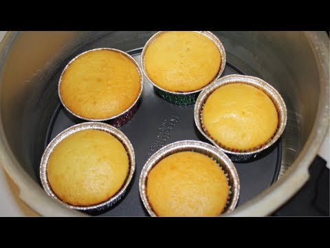How to make Egg Less Cupcakes without oven - Egg Less Vanilla cupcake Recipe by(cook with Madeeha)