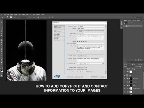How to add copyright information and keywords to images in Photoshop