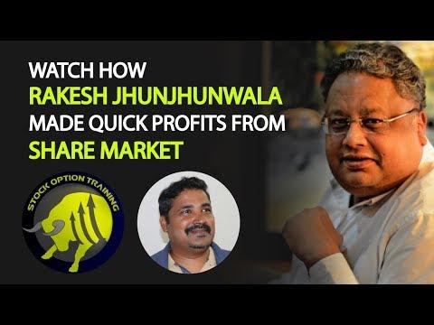 How to make profits in stock market quickly - Story of Rakesh jhunjhunwala - stays loyal to Titan