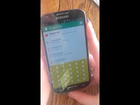 How to screen shot snapchat on the galaxy s4