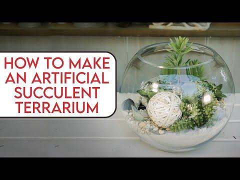 Artificial Succulent Terrarium Floristry Tutorial