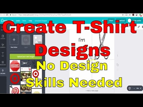How to Design Amazon Merch or Shopify Shirts with No Graphic Design Skills Using FREE PROGRAMS