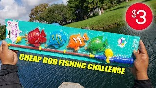 Download $3 Toy Fishing Rod Challenge and Review! Video