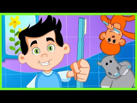 👄 BRUSH BRUSH BRUSH YOUR TEETH EVERYDAY 😄 Brush Your Teeth Song For Kids