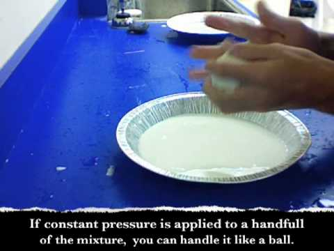 Quicksand: How to Make and Play with a Non-Newtonian Fluid