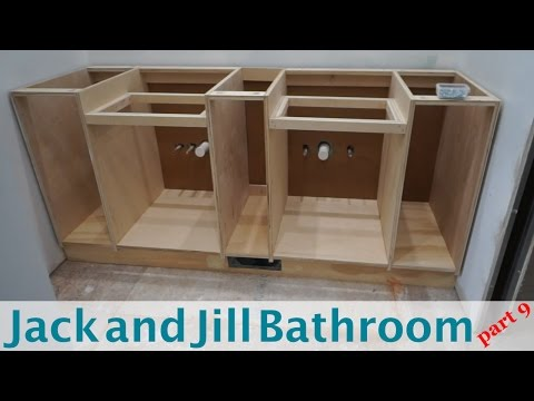 Building Vanity Cabinets - Jack and Jill Bathroom (part 9)