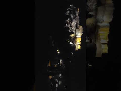 Footage from the Areopagus at night overlooking Athens and the Acropolis