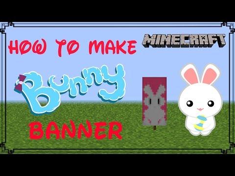 Minecraft | How to make Bunny Banner | Mangoman