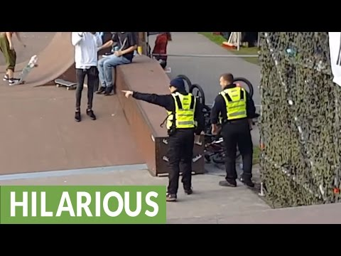 BMX rider doesn't listen to security - gets taught important lesson!