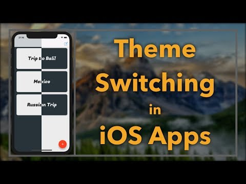 Theme Switching (iOS, Xcode 9, Swift 4)