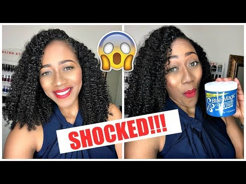 BEST TWIST OUT WITH HAIR GREASE?!?! SO SHOOK! BLUE MAGIC HAIR GREASE