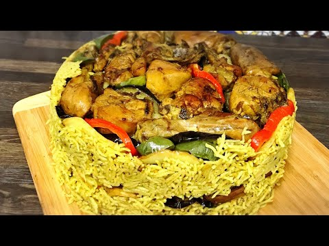 Husband Making Arabic Dish Chicken  Maqlooba / Maqluba Recipe / How To Make Maqlooba