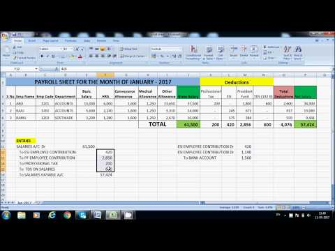 ESI  Accounting Entries in Tally ERP.9