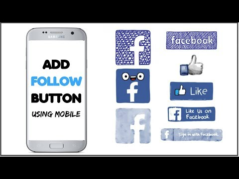 Add Follow Button on Facebook using(Android/iphone)
