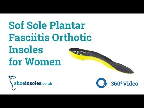 Sof Sole Plantar Fasciitis Orthotic Insoles For Women 360° Video