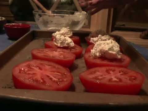 Cream Cheese Crusted Tomatoes