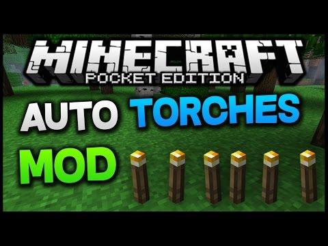 Minecraft PE 0.11.0 - AutoTorch MOD