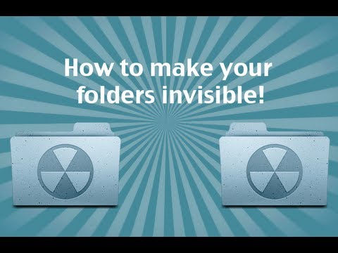 How to make your folders INVISIBLE! Mac OS x Mountain Lion