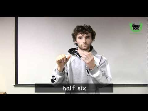 Telling the Time in Irish Sign Language (ISL)