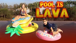 Download POOL IS LAVA CHALLENGE!!! Video