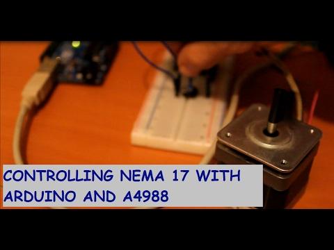 How to Control Nema 17 Stepper Motor with Arduino and A4988